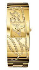 New Authentic GUESS Women Gold Tone Stainless Steel Bangle Watch U15045L1 NWT