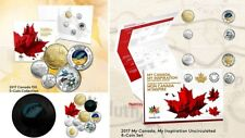 2017 My Canada, My Inspiration Uncirculated 8 Coin & 5 Coin Sets