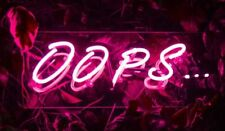 New OOPS... Neon Light Sign Lamp Beer Pub Acrylic 14""