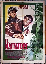 manifesto 2F film IL MATTATORE Vittorio Gassman Dino Risi 1960