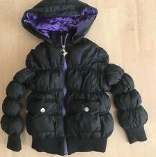 Baby Phat Kids Girls Winter Hooded Puffer Jacket Size Small S Black Purple