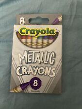 Crayola Metallic Crayons 8 Pack Shimmer/Glitter Shades Non-toxic