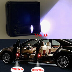 2x Wireless Ghost Shadow Projector LED Door Step Courtesy Ground White Light #J