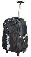 Cabin Bag Backpack 2 wheel Telescopic Handle Hiking Trekking Camping Rucksack