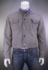 * GIORGIO ARMANI * Black Label Recent Gray Baby Calf Leather Bomber Jacket 46/L