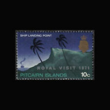 Pitcairn Is, Sc #118, MNH, 1971, Royal visit, ships, landing point, CL187F