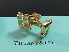 Tiffany & Co 18 K Yellow Solid Gold Signature Cufflinks