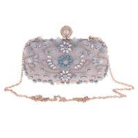 Women Lady Evening Messenger Clutch Bag Crystal Chain Handbag Purse Fashion Gift