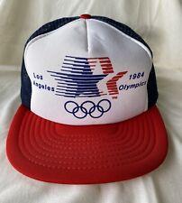 Vintage 1984 Los Angeles Olympics Trucker Mesh Snapback Cap