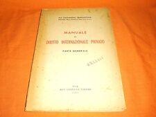 manuale di diritto internazionale privato parte generale 1951