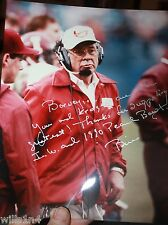 Bill Mallory Indiana University 1990 Peach Bowl Autograph Photo 2 Kroger sponsor