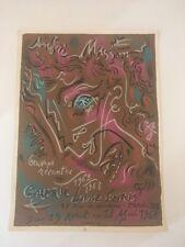 AFFICHE MASSON GALERIE LOUISE LEIRIS