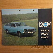 DATSUN 120Y SUNNY Saloons Coupe Estate UK Market Original Car Brochure 1975