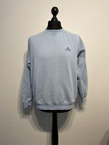 Vintage 90s Adidas Blue Pullover Sweatshirt Jumper Sweater Size: 42 / 44 Large