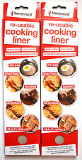 2 x Re-Useable Cooking Liner Sheets Non-Stick Baking Roasting Frying Microwave