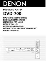 Denon DVD-700 DVD Player Owners Manual