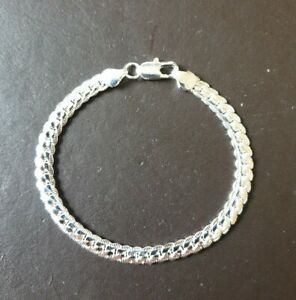 WHOLESALE 925 STERLING SILVER 5MM PATTERNED LINKED BRACELET INC FREE GIFTBOX.