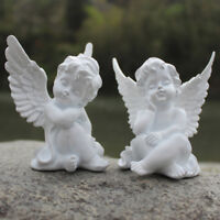 Home Decor Vintage Angel Cherub Figurine Figure White Sleeping Baby Angel Statue