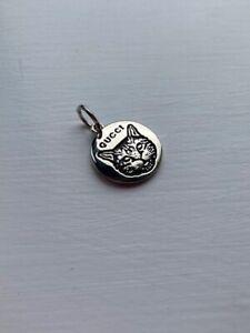 Small Silver Gucci Charm