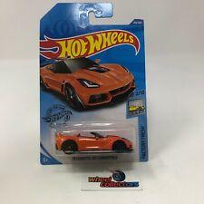 '19 Corvette ZR1 Convertible #144 * ORANGE * 2020 Hot Wheels Case H * D10