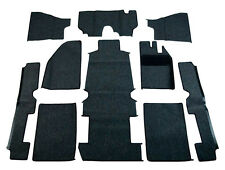 1973-1977 VW RHD Bug Sedan Carpet Kit 10pcs, (w/o Footrest) Black
