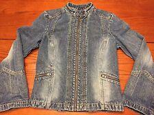 Women's Tommy Hilfiger Tommy Jeans Denim Moto Jacket Size Large
