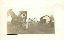 c1916 Real Photo PC; 2 Men, Horse & Buggy, Hersey WI St. Croix County Posted