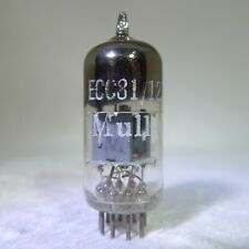 Mullard 12AT7/ECC81 Square Getter England 1958 Measures Low/Works