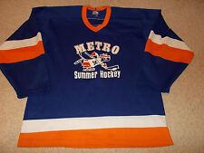 Vtg-1980s Minnesota Metro School Old Goldy Gopher Logo Ultrafil Hockey Jersey