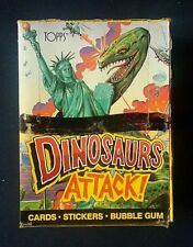Vintage 1988 Topps Dinosaurs Attack! Trading Cards ~ 48 Unopened Wax Packs