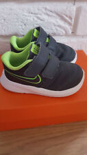Boys Nike Star Runner 2 Baby/Toddler Shoe/Trainers, size 5C, uk 4.5 Grey/Green