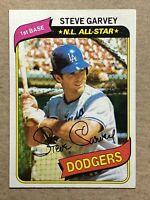 Steve Garvey 1980 Topps Baseball Card. Dodgers