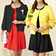 Polyester 3/4 Sleeve Casual Sheath Dresses for Women