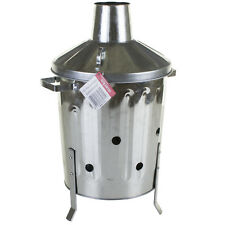 15L 90L LITRE GARDEN WASTE INCINERATOR BIN BURNER WOOD LEAVES PAPER GALVANISED