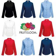 Fruit of the Loom Womens Lady-Fit Poplin Long Sleeve Shirt