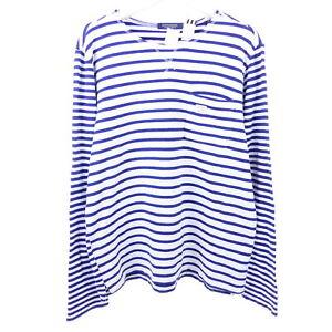 SCOTCH & SODA  Herren Pullover Striped Sweater Weiß Blau Gr. L