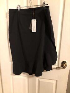 Estelle clothing black skirt BNWT sz 16