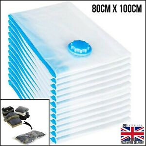 Large Vacuum Hoover Storage Bags Sacks Space Save Compressed Big 80x100cm Vacume