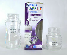 3 Piece set Philips Avent Glass Feeding Baby Bottle BPA Free 240 ml Brand new