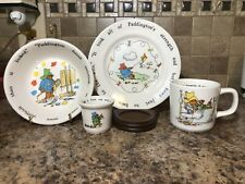 Coalport Paddington Bear Child's Dish Set 4 Piece Nursery Ware 1984 Made England