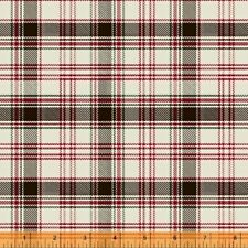 Home Sweet Cabin Rustic Lodge Plaid Black Red Cotton Fabric Windham By The Yard