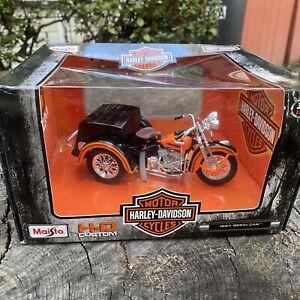 Harley Davidson Motorcycle HD Custom 1:18 1947 Servi-Car