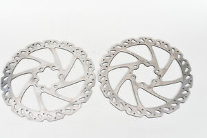 Pair Hayes Wave Disc Brake Replacement Rotor 160mm 6 Bolt Mountain Bike Qty 2