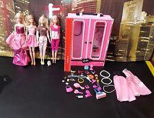 Barbie dolls bundle ( with cupboard)