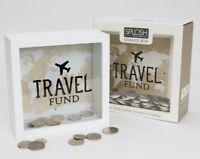TRAVEL FUND MINI CHANGE BOX money box piggy bank savings save holidays honeymoon