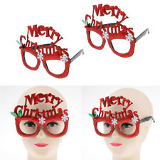 2-Pack Glitter Red Merry Christmas Sunglasses Funny Xmas Party Eye Glasses