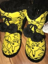 Nintendo Pokémon Pikachu Women's Plush Slipper Boots Size Small 5 6