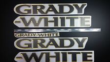 "Grady-White boat Emblem 40"" BLACK GOLD Epoxy Stickers Resistant to mech shock"