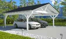 NEU Premium Spitzdach Carport 6.50 x 6.00 Unterstand Carports ab Werk