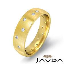 Matt Polish Wedding Round Men Diamond Eternity Solid Band 18k Yellow Gold 0.25Ct